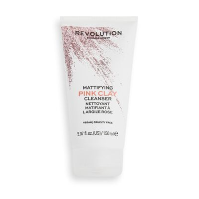 Revolution Skincare Pink Clay Mattifying Mud to Foam Cleanser