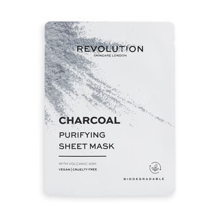 Revolution Skincare Biodegradable Purifying Charcoal Sheet Mask 5 Pack