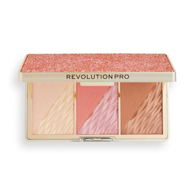 Revolution Pro Crystal Luxe Face Palette Rose Fresco