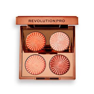 Revolution Pro Goddess Glow Eye Quad Golden Hour Eyeshadow Palette