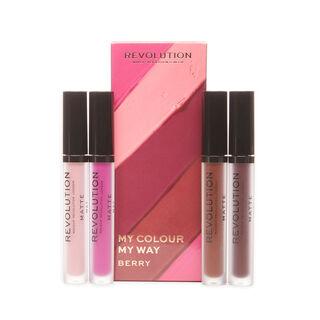 Makeup Revolution My Colour My Way Berry Lipstick Set
