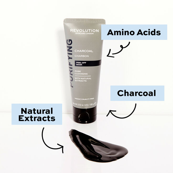 Revolution Skincare Pore Cleansing Charcoal Peel Off Mask