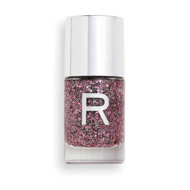 Makeup Revolution Glitter Crush Nail Polish Pink Dream Kiss