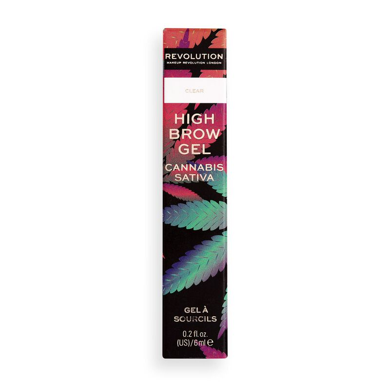 Makeup Revolution Good Vibes Brow Mascara with cannabis sativa Clear