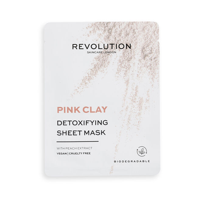 Revolution Skincare Pink Clay Detoxifying Sheet Mask