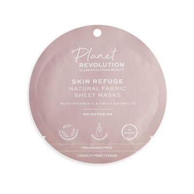 Planet Revolution Skin Refuge Brightening Fabric Sheet Masks