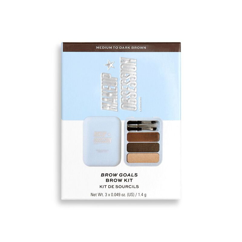 Makeup Obsession Brow Goals Brow Kit - Medium To Dark Brown