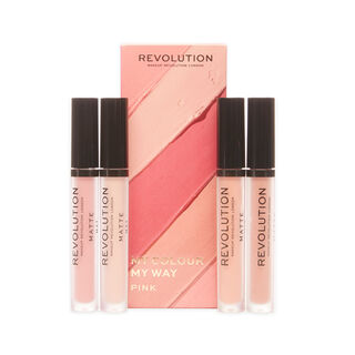 Makeup Revolution My Colour My Way Pink Lipstick Set