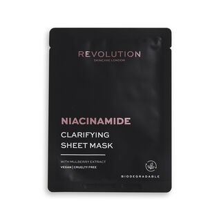 Revolution Skincare Biodegradable Clarifying Niacinamide Sheet Mask 5 Pack