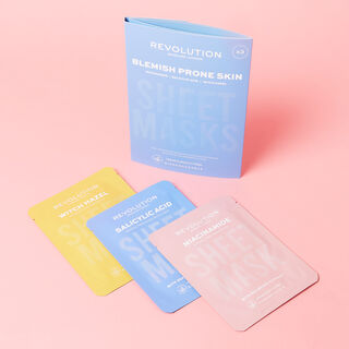 Revolution Skincare Biodegradable Blemish Prone Skin Sheet Mask 3 Pack