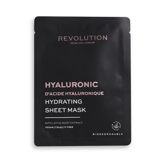 Revolution Skincare Biodegradable Hydrating Hyaluronic Acid Sheet Mask 5 Pack