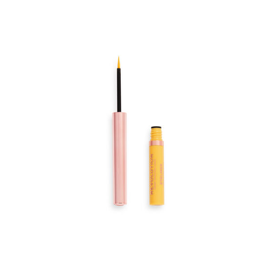 Makeup Revolution Neon HeatColoured Liquid Eyeliner Lemon Yellow