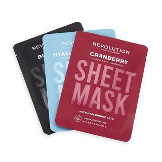 Revolution Skincare Biodegradable Dehydrated Skin Sheet Mask 3 Pack