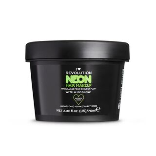 UV Neon Green Hair Make Up