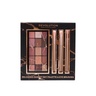 Makeup Revolution Reloaded Sunset Sky Palette & Eye Brush Set