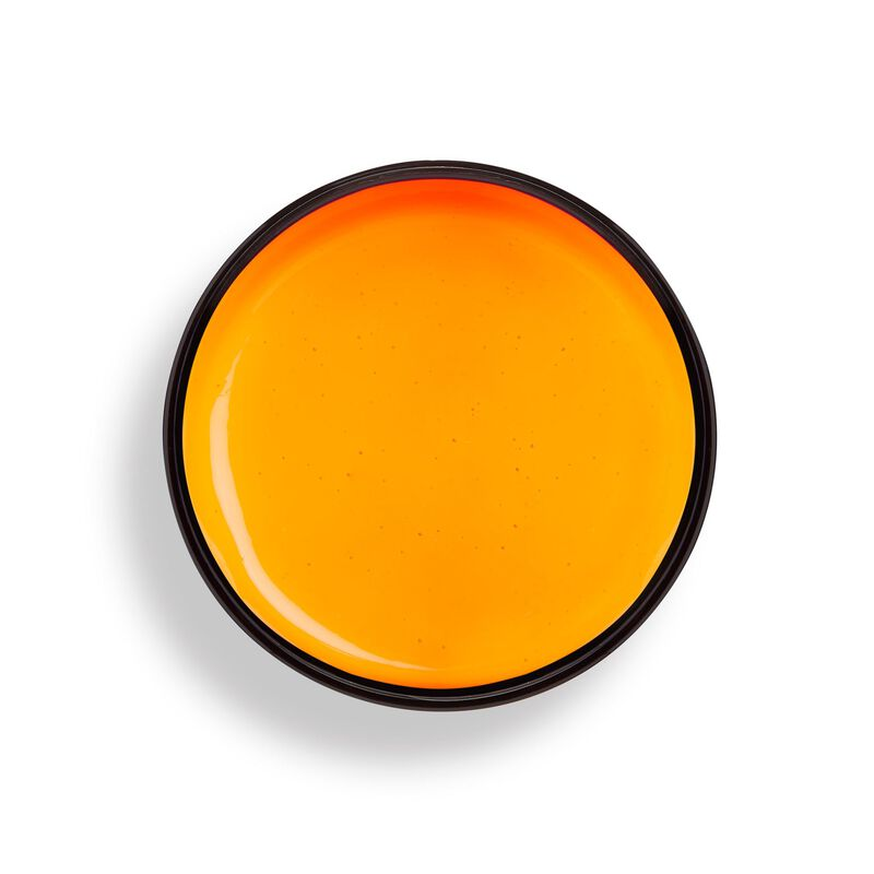 UV Neon Orange Hair Make Up