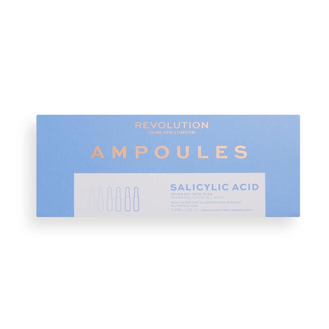 Revolution Skincare Salicylic Acid BHA Anti Blemish Seven Day Skin Plan Ampoules