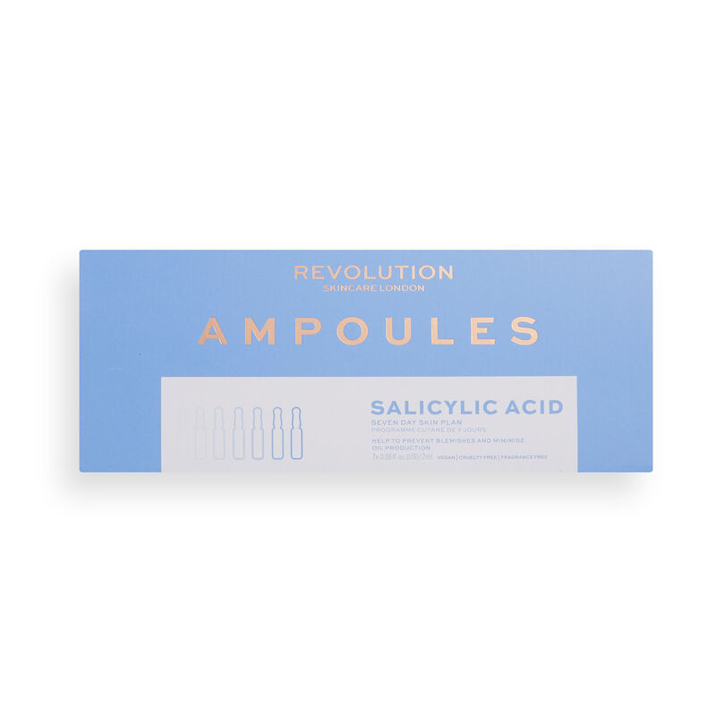 Revolution Skincare Salicylic Acid 7 Day Blemish Preventing Skin Plan Ampoules