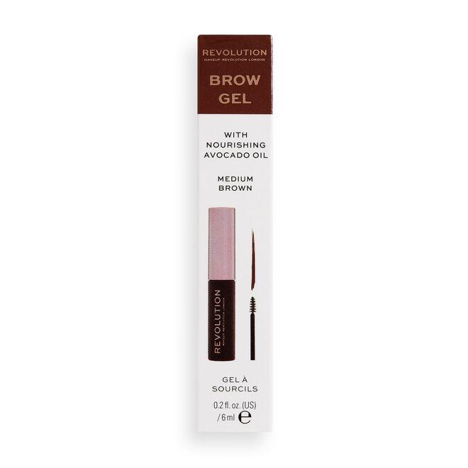 Makeup Revolution Brow Gel Medium Brown