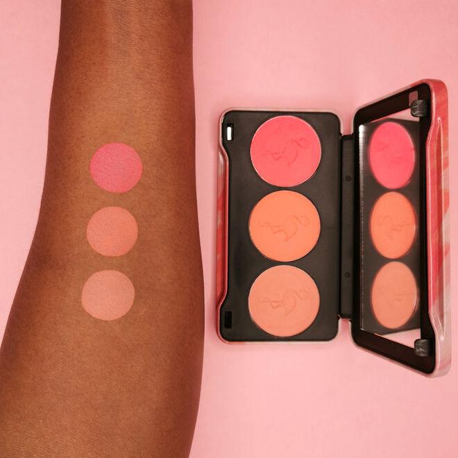 Makeup Revolution Flamingo Mini Trio Blush Palette Oh My Blush