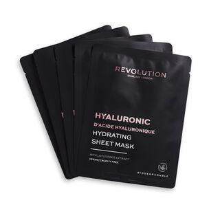 Revolution Skincare Biodegradable Hydrating Hyaluronic Acid Sheet Mask 5 Pack