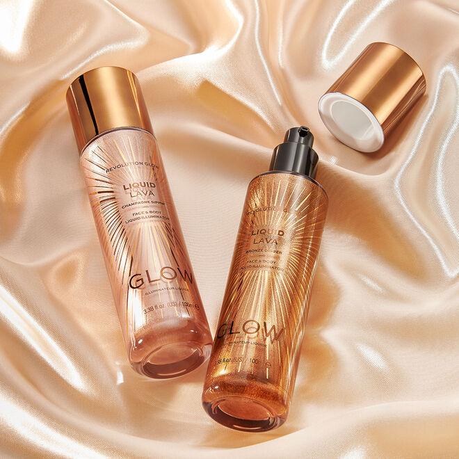 Makeup Revolution Glow Liquid Lava Highlighter Bronze Digger