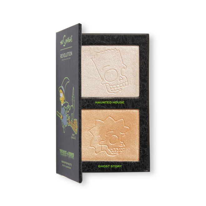 """The Simpsons Makeup Revolution Mini Highlighter Palette """"Witch Lisa"""""""