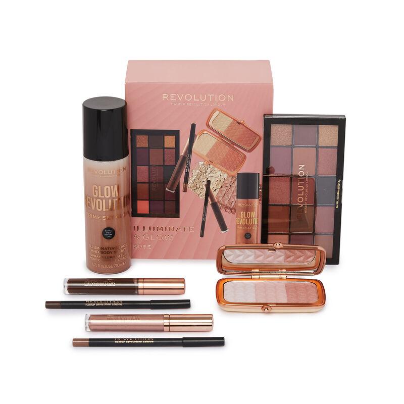 Makeup Revolution Illuminate & Glow Rose Set