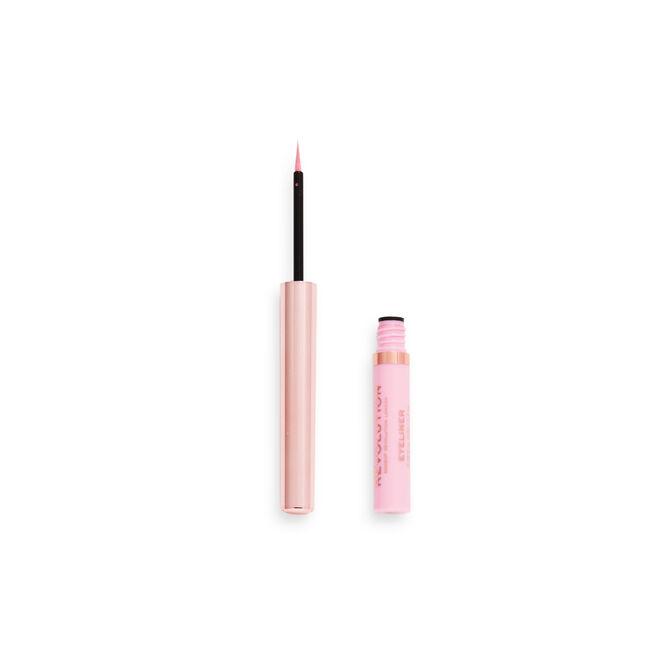Makeup Revolution Neon Heat Coloured Liquid Eyeliner Baby Pink