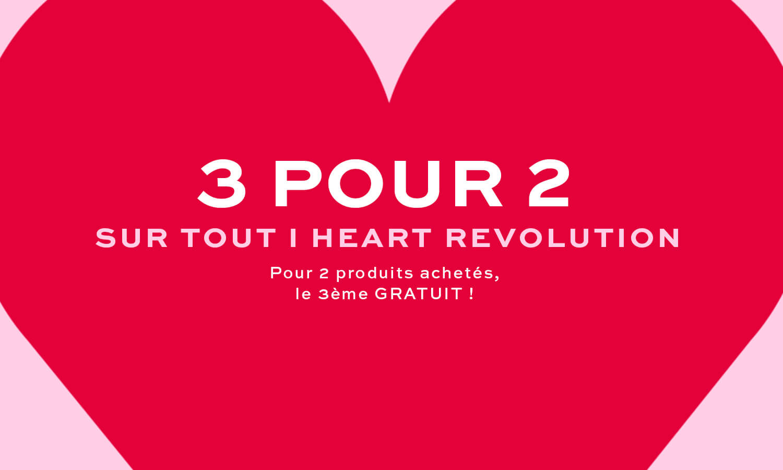 3 for 2 offer i heart revolution