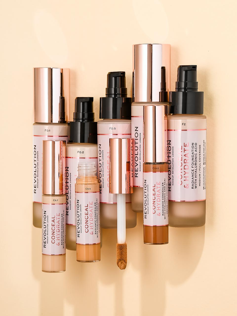 conceal and hydrate range