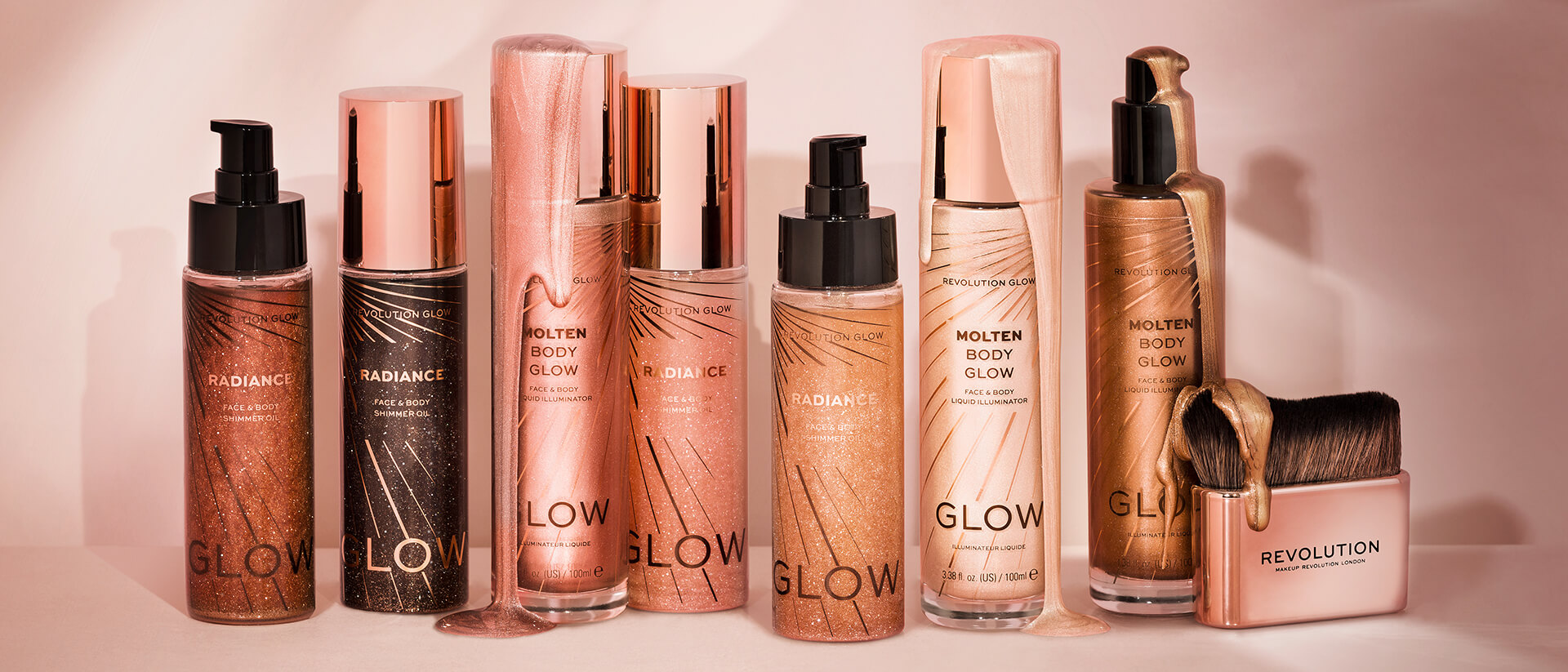 revolution beauty glow collection
